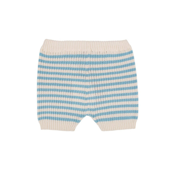 The New Society LUPITA KNIT SHORT BABY - ECRU STRIPE