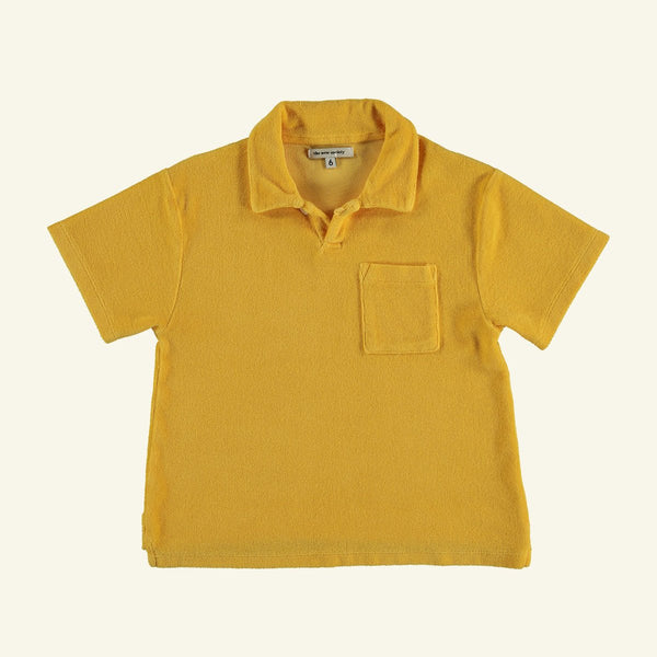The New Society JOSEPH ORGANIC COTTON POLO SHIRT - PRIMROSE YELLOW
