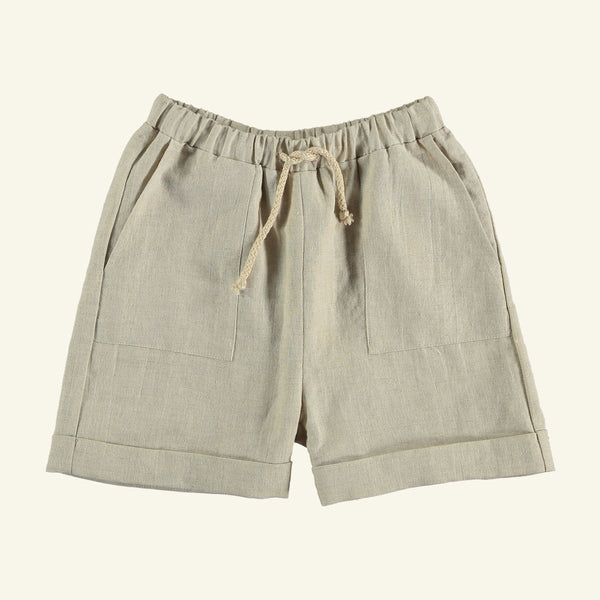 The New Society LUPIN LINEN SHORTS - NATURAL