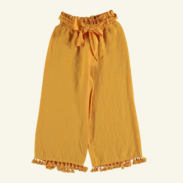 The New Society MIA LINEN TROUSERS - PRIMROSE YELLOW