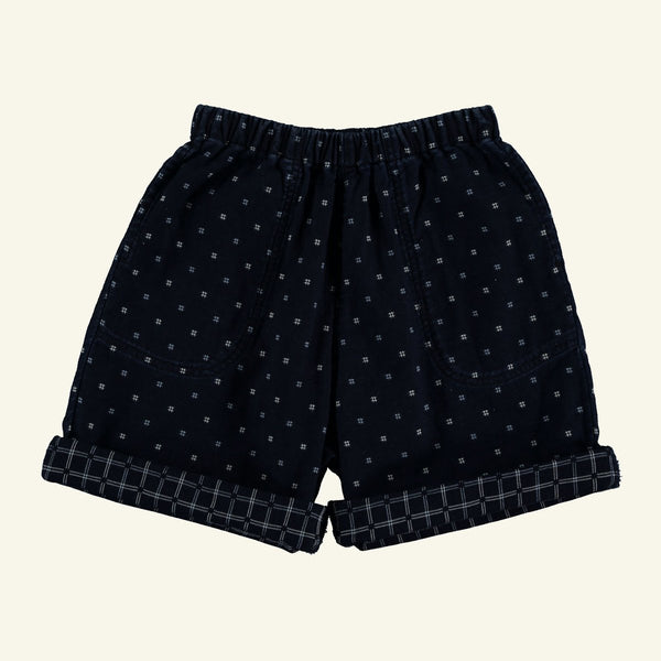 The New Society NATHAN JACQUARD SHORTS - INDIGO