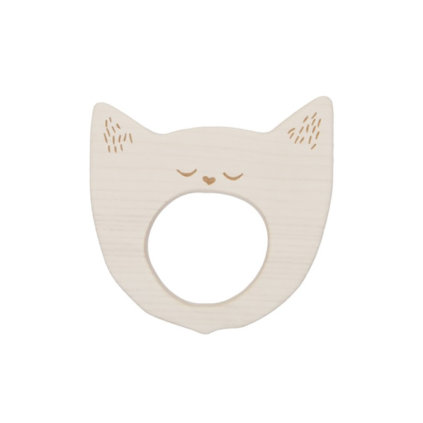 Wooden Story - Teether - Yawning Cat