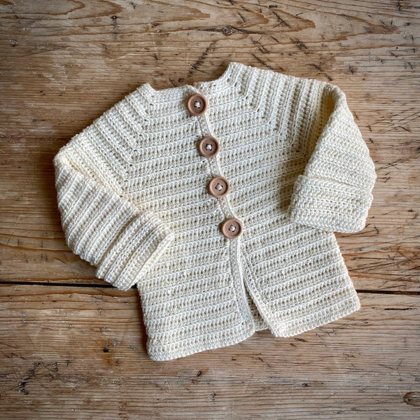Yarn Goodies Handmade Cardigan Cream