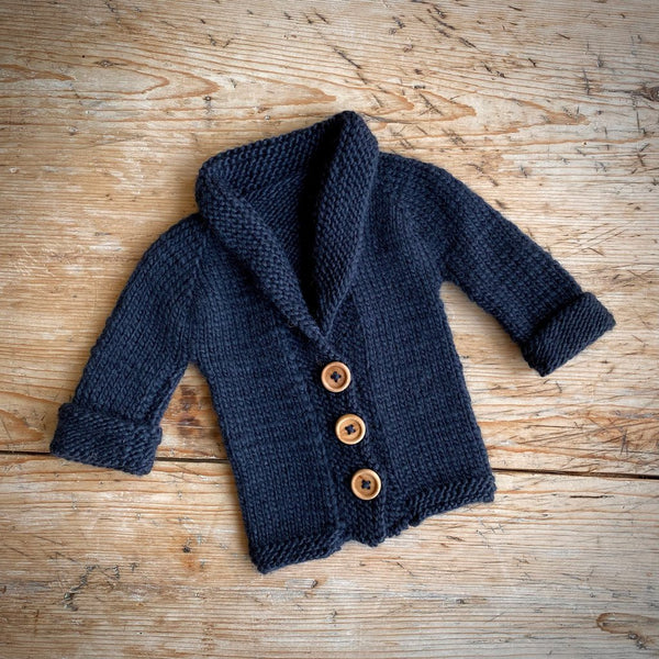 Yarn Goodies Handmade Cardigan Navy