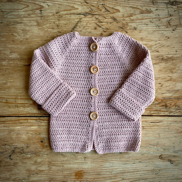 Yarn Goodies Handmade Cardigan Rose