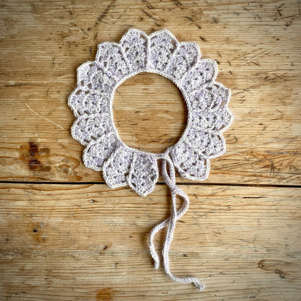 Yarn Goodies Handmade Crochet Collar Lilac Melange