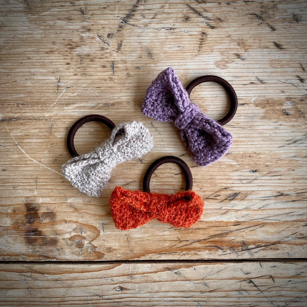 Yarn Goodies Handmade Hair Elastics Bow