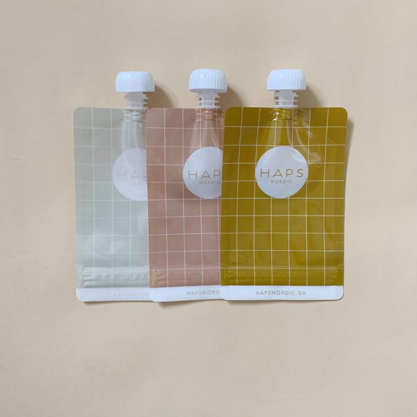 Reusable Smoothie Bag 3-Pack - Mustard/Rose/Linen
