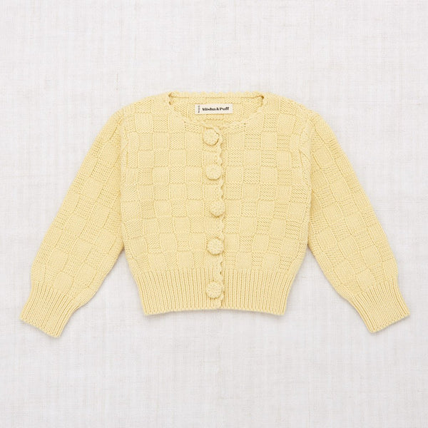 Misha and Puff Basketweave Cardigan - Straw