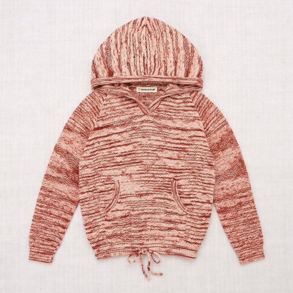 Misha and Puff Chevron Hoodie - Vintage Brown Space Dye
