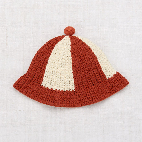 Misha and Puff Crochet Beach Hat - Paprika