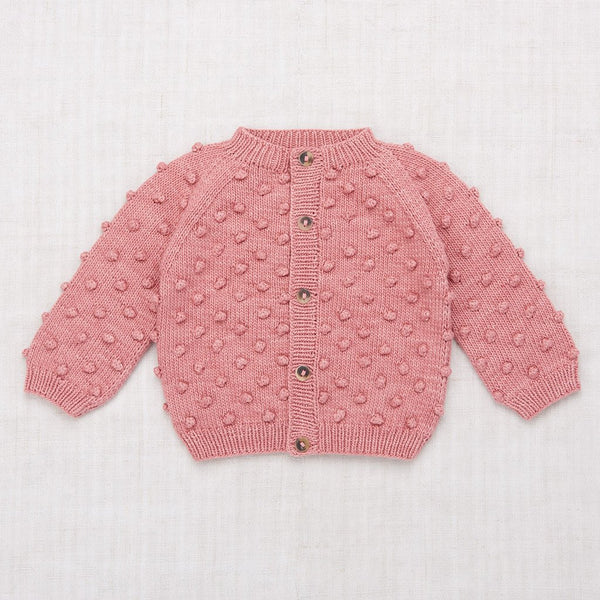 Misha and Puff Summer Popcorn Cardigan - Rose Blush