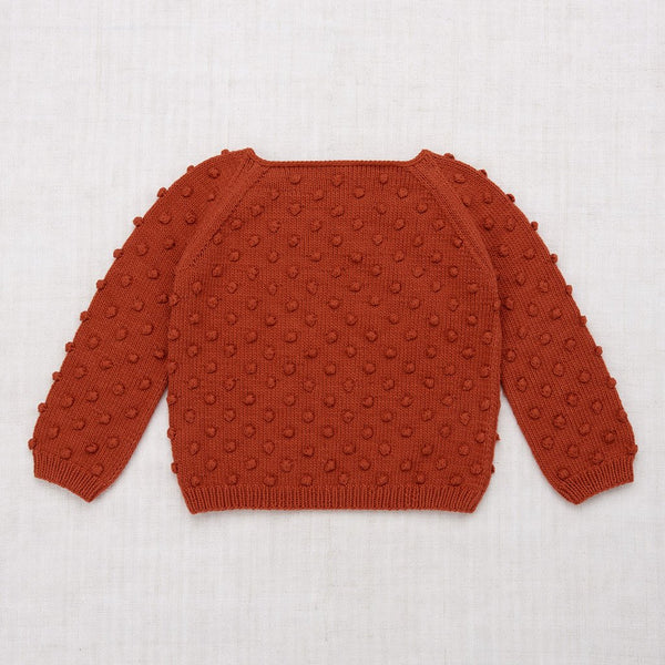 Misha and Puff Summer Popcorn Sweater - Paprika