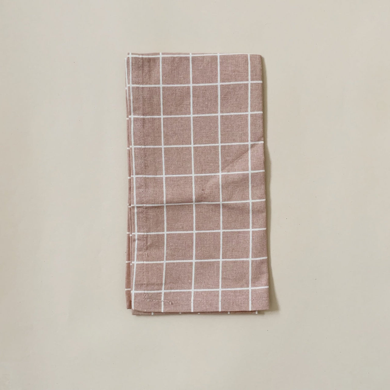 Organic Cotton Napkins 4-pack - Check Rose