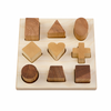 Wooden Shape Sorter Board - Natural