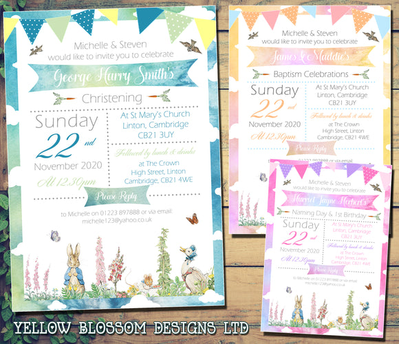 Christening / Baptism / Naming Day Invitations