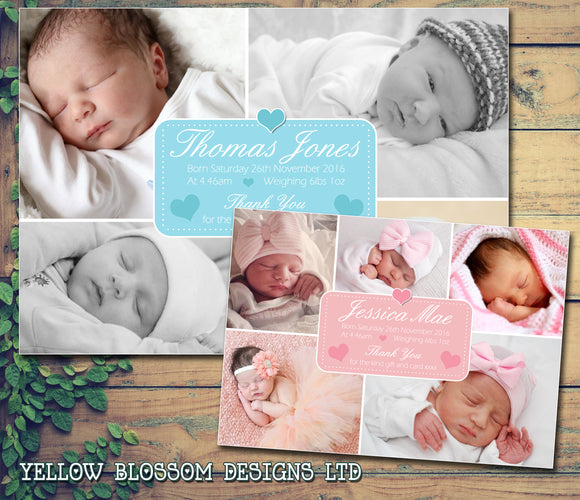 New Born Baby Announcement Cards