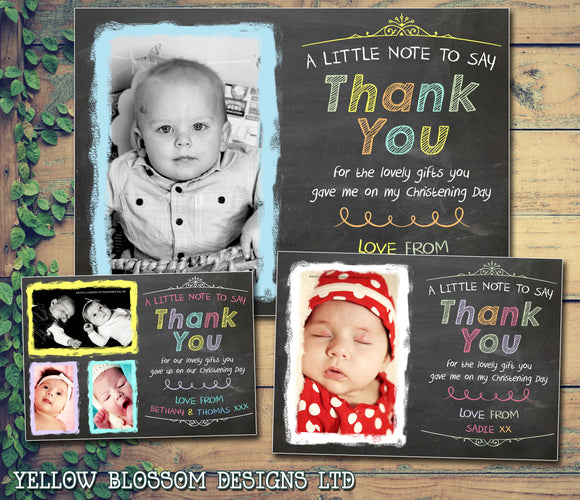 Christening / Baptism / Naming Day Thank You Cards