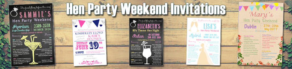 Hen Party Weekend Invitations