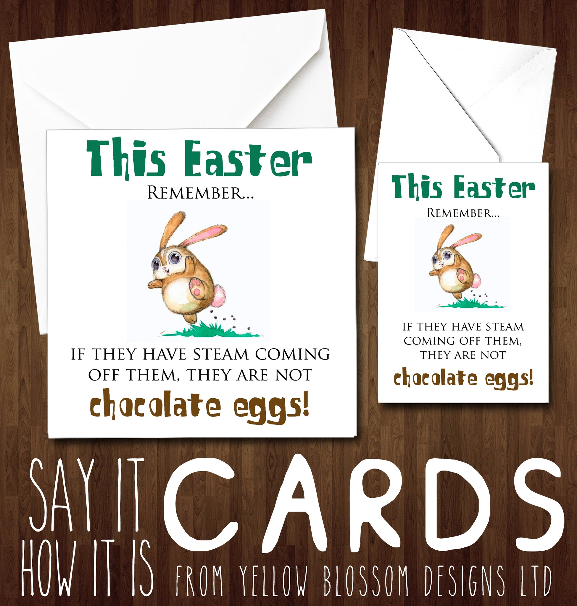 Remember They Might Not Be Chocolate Eggs Easter Greeting Card