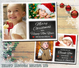 Chalkboard Fantasy Border Personalised Folded Flat Christmas Thank You Photo Cards Family Child Kids ~ QUANTITY DISCOUNT AVAILABLE - YellowBlossomDesignsLtd