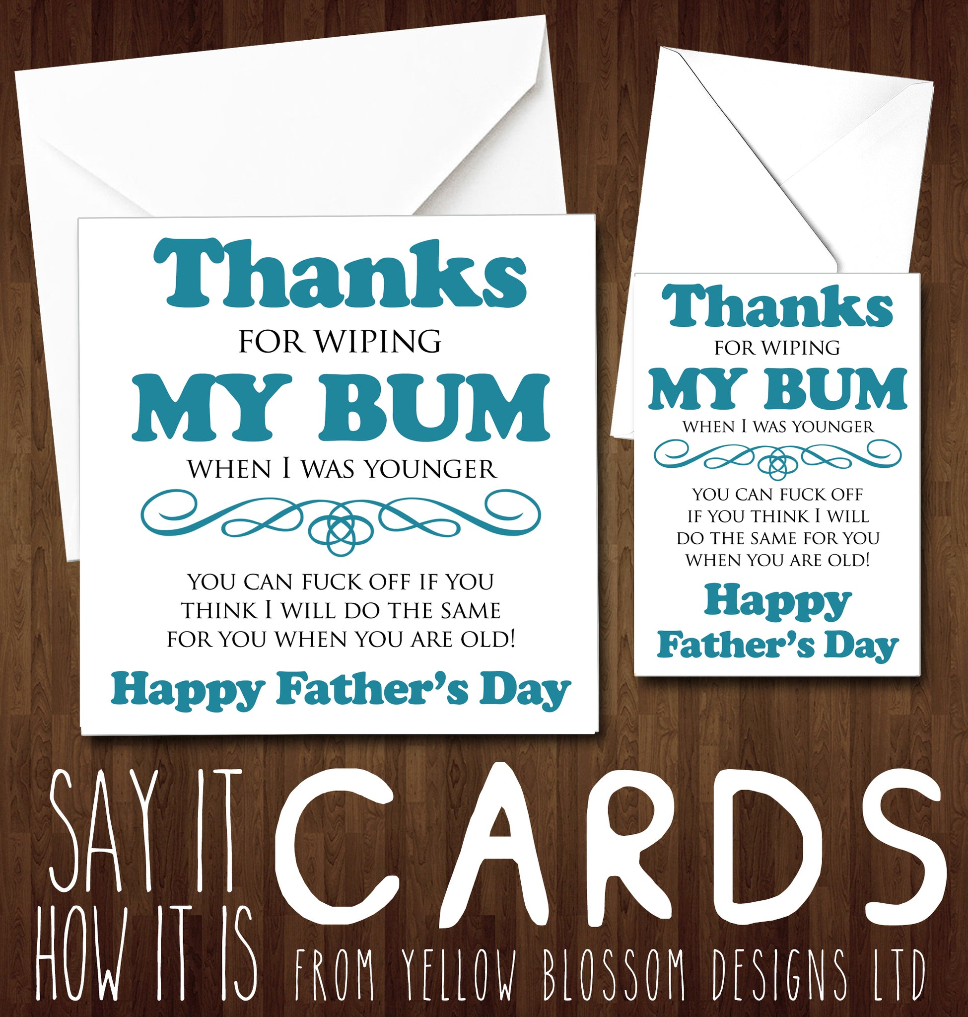 Fathers Day Greetings Card Funny Cheeky Rude Dad Daddy