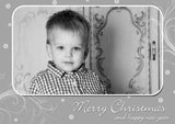 Red Blue Silver Gold Personalised Folded Flat Christmas Thank You Photo Cards Family Child Kids