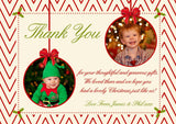 Boy Girl Joint Twins Personalised Folded Flat Christmas Thank You Photo Cards Family Child Kids ~ QUANTITY DISCOUNT AVAILABLE - YellowBlossomDesignsLtd