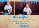 Thank You Card Personalised Rainbow Birthday Christening Naming