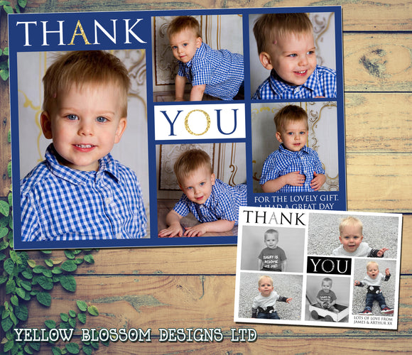 Personalised Thank You Cards Multiple Photos