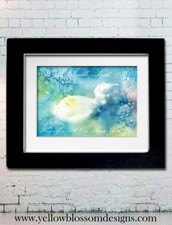 Watercolour Ultrasound Scan Photo Print ~ Keepsake ~ Mother Father