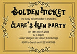 Adult Birthday Invitations Female Male Unisex Joint Party Her Him For Her - Funky Golden Ticket ~ QUANTITY DISCOUNT AVAILABLE