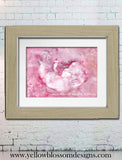 Personalised Ultrasound Watercolour Scan Photo Framed Print ~ GREAT GIFT!
