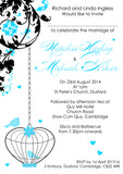 Bird Cage Vintage Wedding Day Invitations Personalised ~ QUANTITY DISCOUNT AVAILABLE - YellowBlossomDesignsLtd