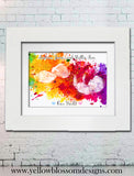 Ultrasound Watercolour Scan Photo Framed Print ~ Keepsake Baby Shower