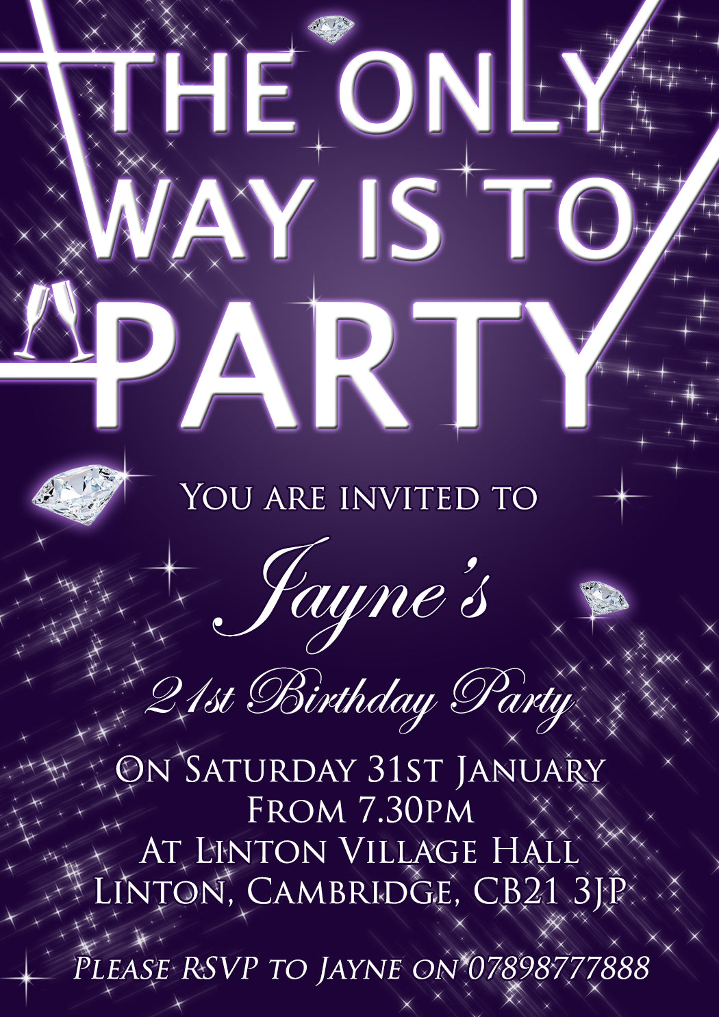 Birth party invitations adult discount
