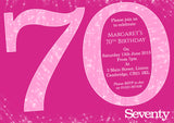 Adult Birthday Invitations Female Male Unisex Joint Party Her Him For Her - Sparkles 30th 40th 50th 60th 70th 80th 90th ~ QUANTITY DISCOUNT AVAILABLE - YellowBlossomDesignsLtd