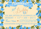 Adult Birthday Invitations Female Male Unisex Joint Party Her Him For Her - Vintage Garden ~ QUANTITY DISCOUNT AVAILABLE - YellowBlossomDesignsLtd