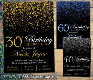 Glitter confetti birthday invitations female male unisex joint party glitter confetti birthday invitations female male unisex joint party 18th 21st 30th 40th 50th 60th filmwisefo