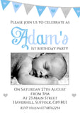 Joint Shabby Chic Rustic Birthday Invitations Personalised Bespoke Twin ~ QUANTITY DISCOUNT AVAILABLE