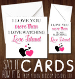 Love Island Funny Greetings Card