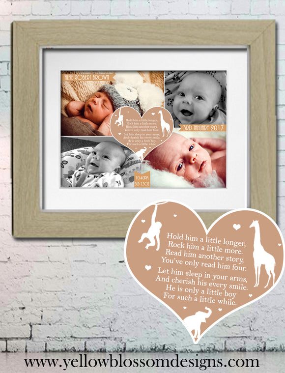 Hold Him A Little Longer, Rock Him A Little More ~ Photo Baby Print