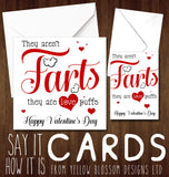 Funny Valentines Day Card Farts Love Joke Card Husband Wife Boyfriend Girlfriend