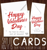 Funny Valentines Day Card Love Joke Husband Boyfriend Partner Bum Out Of Bounds