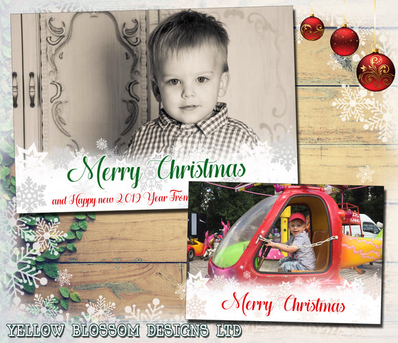 Personalised Christmas Cards Flat Or Folded ~ QUANTITY DISCOUNT AVAILABLE