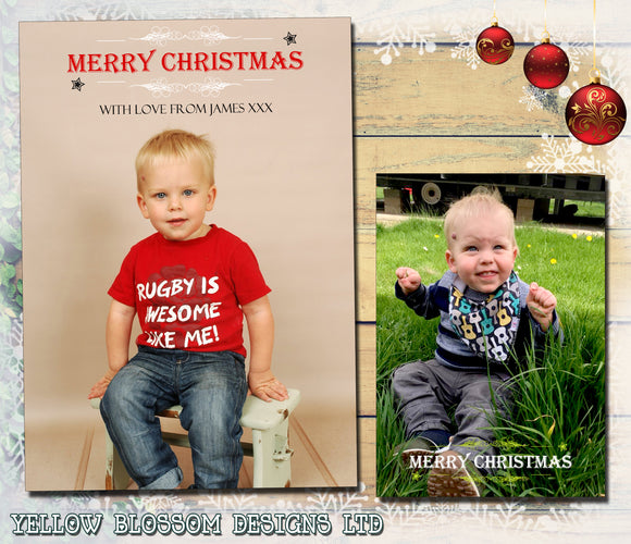 Full Photo Christmas Cards ~ QUANTITY DISCOUNT AVAILABLE