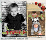 Funky Merry Christmas Full Photo Cards ~ QUANTITY DISCOUNT AVAILABLE