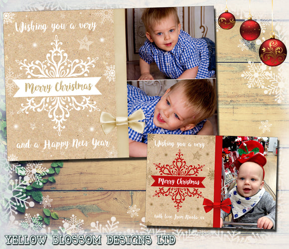 Elegant Christmas Photo Cards Magical ~ QUANTITY DISCOUNT AVAILABLE