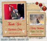Personalised Packs of Photo Christmas Cards Thank You Postcards Folded