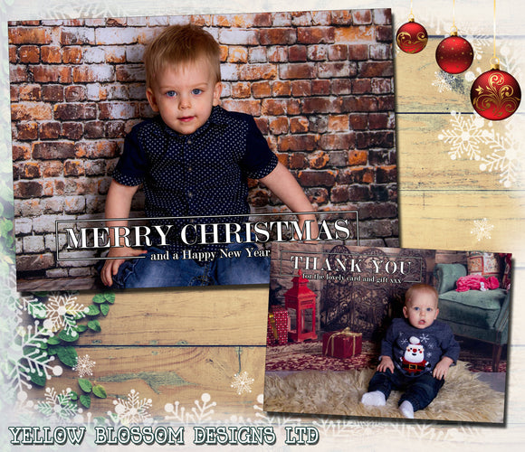 Personalised Christmas Greeting / Thank You Cards ~ QUANTITY DISCOUNT AVAILABLE